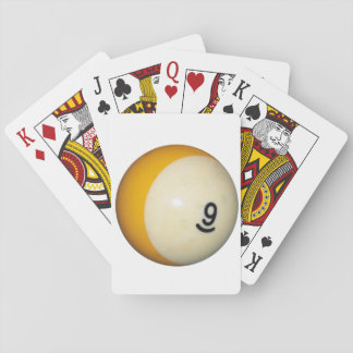Billiards 9 Ball Playing Cards