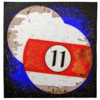 BILLIARDS BALL NUMBER 11 NAPKIN