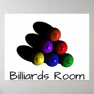 Billiards Game Room Pool Balls Fun Poster