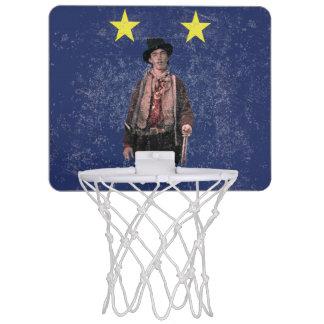 Billy the Kid Distressed Texas Flag Mini Basketball Hoop