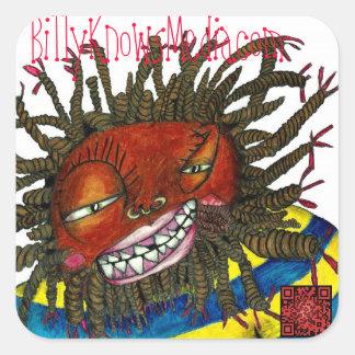 billyKnowsMedia QRCodes sticker