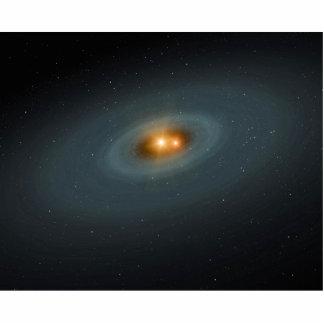 Binary Star Space Art Cut Out