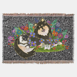 BINDI LAPPY Finnish Lapphund woven tapestry throw
