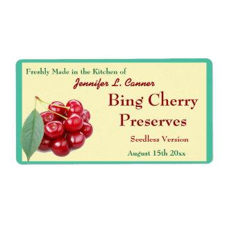 Bing Cherry Jam or Preserves Canning Jar