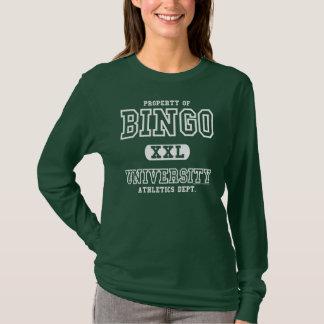 Bingo University Ladies Athletics Dept. shirt