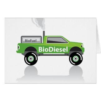 Bio diesel Pickup truck Card