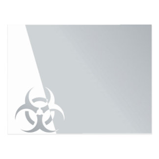 Bio-hazard biohazard atomic nuclear graphic postcard