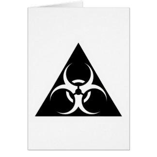 Bio Hazard or Biohazard Sign Symbol Warning Black Card