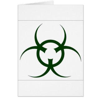 Bio Hazard Symbol Greeting Card