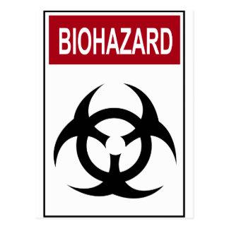 Bio Hazard Vintage Sign Postcard