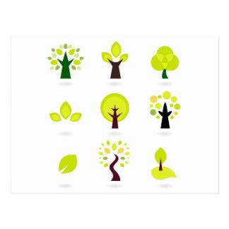 Bio trees original drawing : Tshirts Postcard