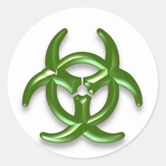 Biohazard 2 classic round sticker