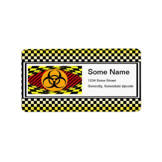 Biohazard Design by Kenneth Yoncich Address Label