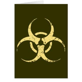 Biohazard -dist -yellow greeting card