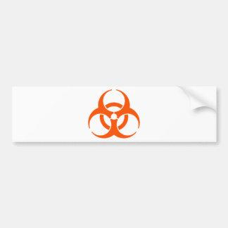 biohazard orange bumper sticker