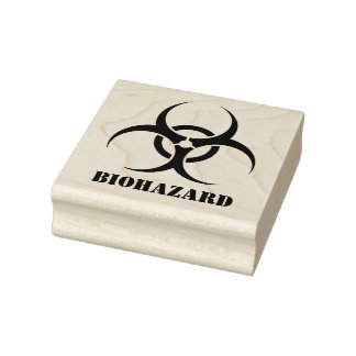 Biohazard Rubber Stamp