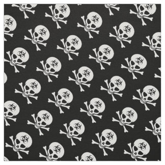 Biohazard Skull and Crossbones Fabric