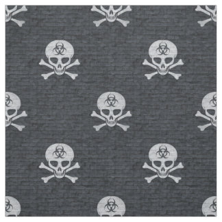 Biohazard Skull Fabric