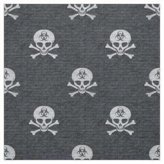 Biohazard Skull Fabric