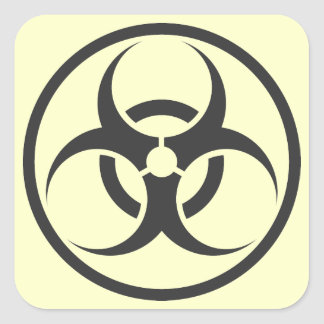 biohazard square sticker