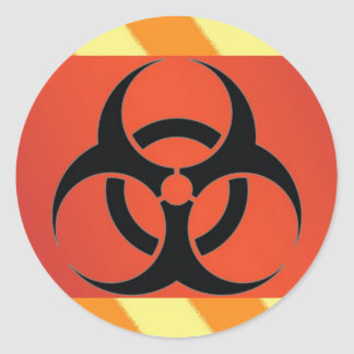 Biohazard Symbol Classic Round Sticker