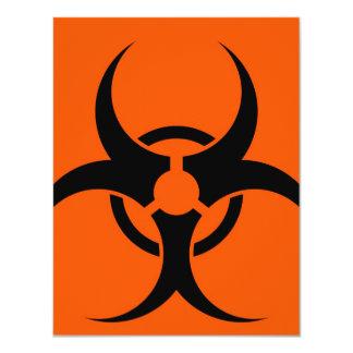 Biohazard Symbol 11 Cm X 14 Cm Invitation Card