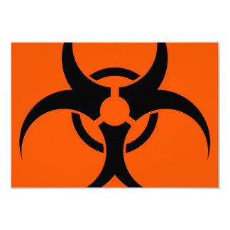 Biohazard Symbol 9 Cm X 13 Cm Invitation Card