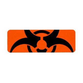 Biohazard Symbol Return Address Label
