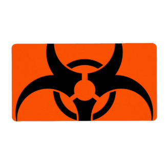 Biohazard Symbol Shipping Label