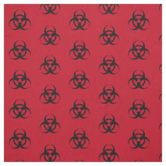 Biohazard Symbol Pattern Fabric