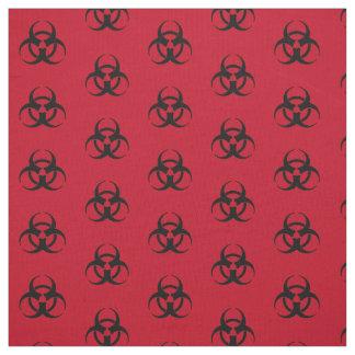 Biohazard Symbol Pattern Fabric