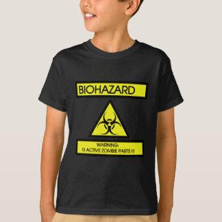 BIOHAZARD, WARNING ACTIVE ZOMBIE PARTS T-Shirt
