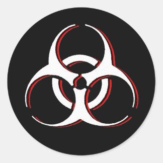 Biohazard x - Bone Blood Ash Classic Round Sticker