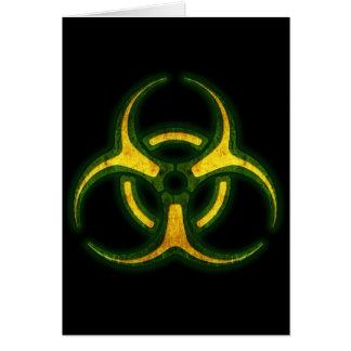 Biohazard Zombie Warning Greeting Card