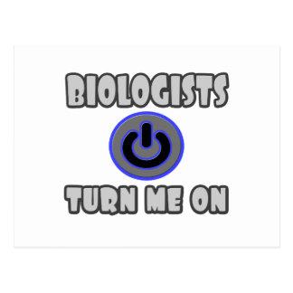 Biologists Turn Me On Postcard