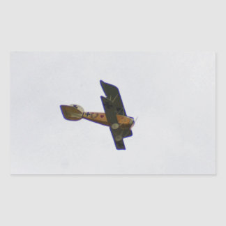 Biplane In Werner Voss Livery Rectangular Sticker