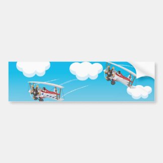 biplanes bumper sticker