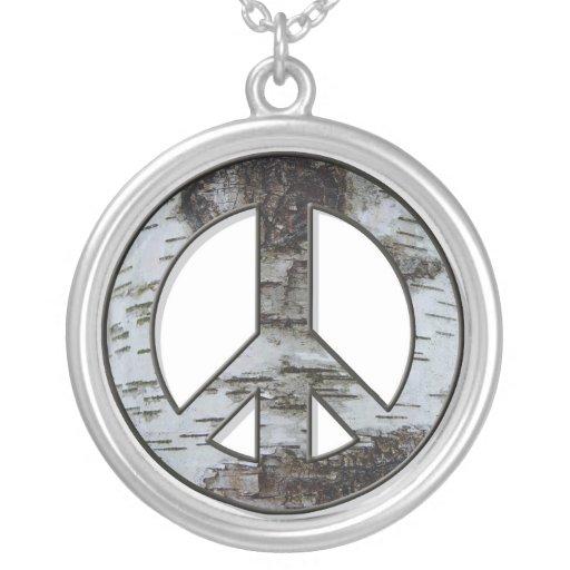 Birch Bark Peace Necklace