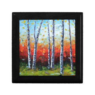 Birch Dream, Palette Knife Painting in oil Gift Box