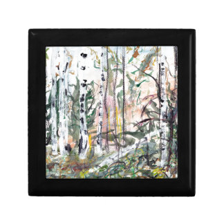 Birch Tree Woodland Watercolour Painting Gift Box