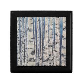Birch trees Morse Code Gift Box