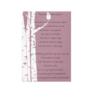 Birch Trees with Prayer Canvas Print