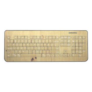 Birch Wood Wireless Keyboard