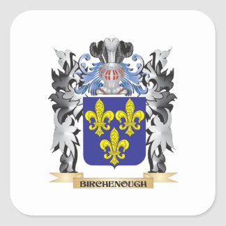 Birchenough Coat of Arms - Family Crest Square Sticker