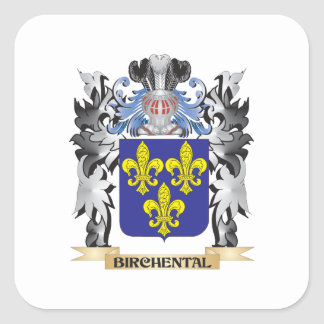 Birchental Coat of Arms - Family Crest Square Sticker