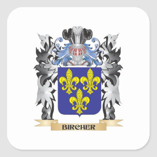 Bircher Coat of Arms - Family Crest Square Sticker