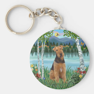 Birches - Airedale #1 Key Ring