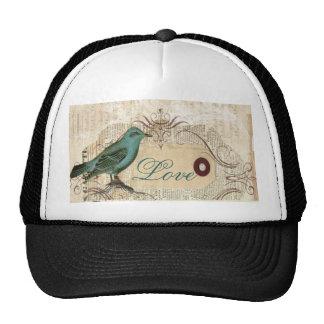 Bird cage Vintage floral  Paris fashion Cap