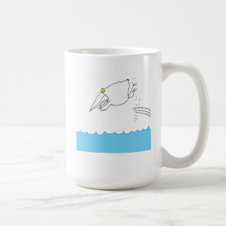 Bird Diving Into Water Coffee Mug