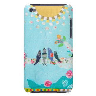 Bird Family Art Collage Barely There iPod Case